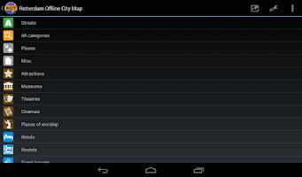 Screenshot of Rotterdam Offline City Map