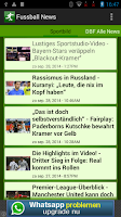 Screenshot of FußBall News