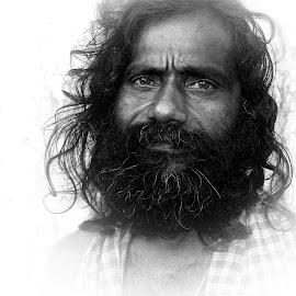 Babaji by Prasanta Das - People Portraits of Men ( hindu, sadhu, portrait )