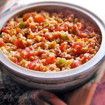 Spanish Rice Bake Recipe with Brown Rice