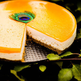 Cheescake  by Iacob Teodora - Food & Drink Cooking & Baking ( cheesecake, orange, green, cooking, cheese, apricot,  )