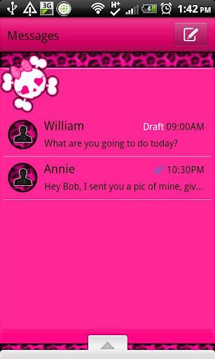 GO SMS - Pink Leopard Punk