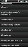Screenshot of Chemical Dictionary