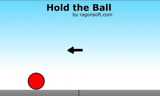 Hold the ball - screenshot