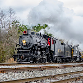 Chuggin' Along by Bokeh Phototography - Transportation Trains ( chris ellis, southern, engine, locomotive, d7000, train, alabama, nikon, 630, steam )