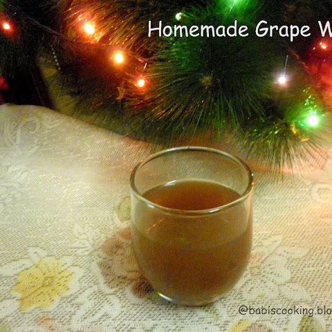 Homemade Grape Wine | Christmas Recipe (with step up step pics.)