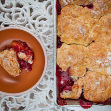 Sweet Cherry, Black Plum and Yellow Peach Cobbler