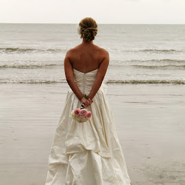 . by Lauren Young - Wedding Bride ( beach, bride, beach wedding, south carolina, just married )