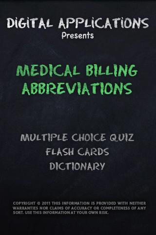 MEDICAL BILLING ABBREVIATIONS