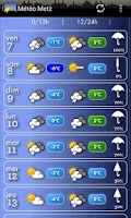 Screenshot of Météo Metz