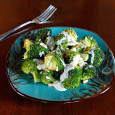 Roasted Broccoli Salad with Smoked Gouda Dressing