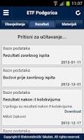 Screenshot of ETF Podgorica