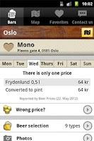 Screenshot of Beer Prices