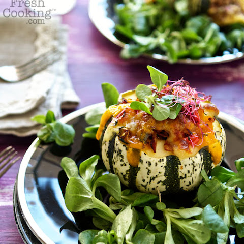 Sweet Dumpling Squash with Quinoa, Bacon & Cheese