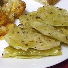 Sliced, Baked Cabbage