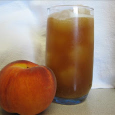Sweet Iced Peach Tea