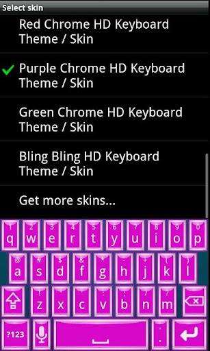 Purple Chrome HD Keyboard Skin