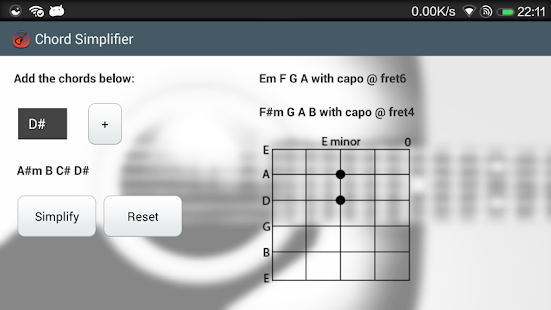 Chord Simplifier - screenshot