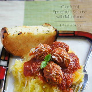 Crock Pot Spaghetti Squash with Meatballs