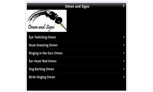 Omen and Signs