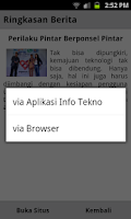 Screenshot of Info Tekno