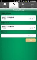 Screenshot of UCB Mobile Banking
