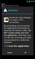 Screenshot of NeoRouter VPN Free