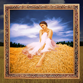 Wheat Girl by Nazir Gohar - Digital Art People ( wheat, model, fashion, nude, colorful, beautiful, art, nikon d90, hdri, girl, nature, female, digital art, photoshop,  )