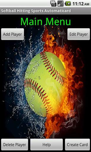 Softball Hitting Card Creator