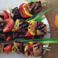 Grilled Beef, Tomato and Lemon Kebabs