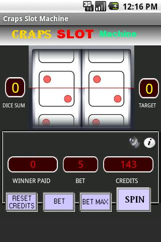Craps Slot Machine