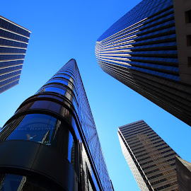 Reaching to the Sky by Sanjib Paul - Buildings & Architecture Office Buildings & Hotels ( building, market street, details, architecture, high, san francisco )