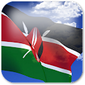 3D Kenya Flag + icon