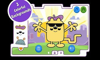 Screenshot of Wubbzy's Kooky Kostume Kreator