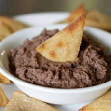 Easy Black Bean Dip with Whole Wheat Pita Chips