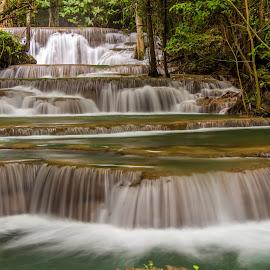 Thailand Waterfall. by John Greene - Landscapes Waterscapes ( huay mae khamin waterfall, nature, carrigallen, beautiful, thailand, john greene, kanchanaburi )