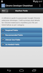 Chrome Developer Cheatsheet APK for iPhone