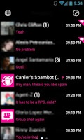 Screenshot of GOSMS WP7 Pink Theme Free