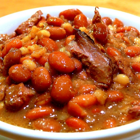 Beef, Bean and Barley Stew - Cholent