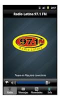 Screenshot of Radio Latina 97.1