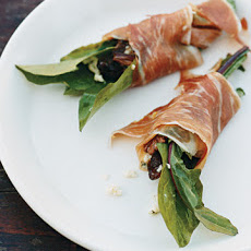 Bitter-Greens Salad Wrapped in Prosciutto