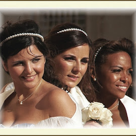 Bride Maids by Francis Xavier Camilleri - Wedding Groups ( girls, occasion, celebration, portraits, smiles, people )