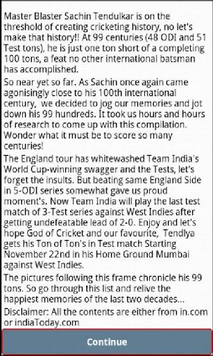 Sachin's Centuries