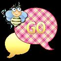 GO SMS - Cream Plaid Bee icon