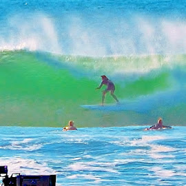 World Surfing Championships  by Scot Gallion - Sports & Fitness Surfing (  )