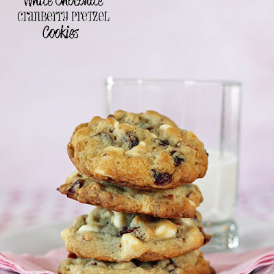 White Chocolate Cranberry Pretzel Cookies (Jumbles)