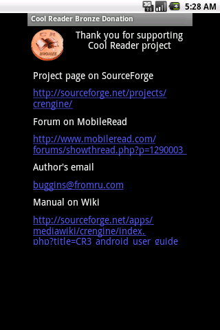 【免費工具App】Cool Reader Bronze Donation-APP點子