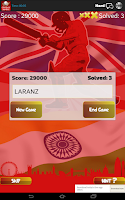 Screenshot of Word Jumble Cricket Players