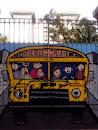 Graffiti Yellow Bus