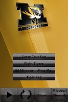 Screenshot of Missouri Tigers Gameday